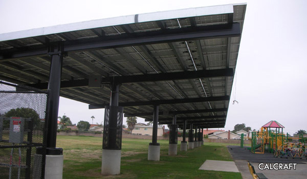 CALCRAFT Manufactures all types of canopies including solar canopies service station canopies retail & Manufacturing - Canopies